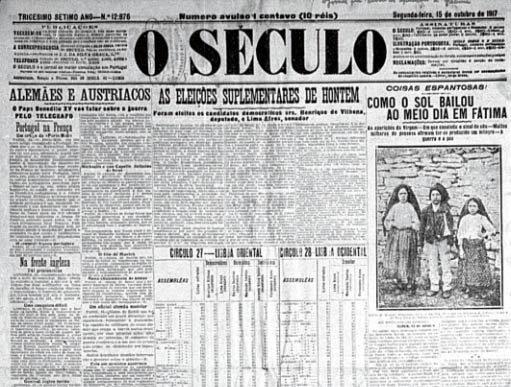 O Século - Lisbon Fatima - Milagre do Sol