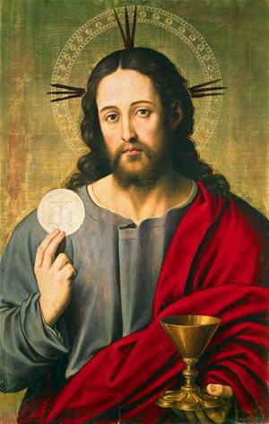 """Jesús dice: """"Éste es mi cuerpo"""" """"Ésta es mi sangre""""."""