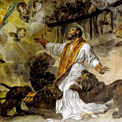 San Ignacio de Antioquía, año 110 d.C., creyó que la Eucaristía era la carne de Jesucristo.