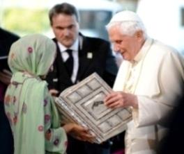 Benedicto XVI con musulmanes - antipapa hereje