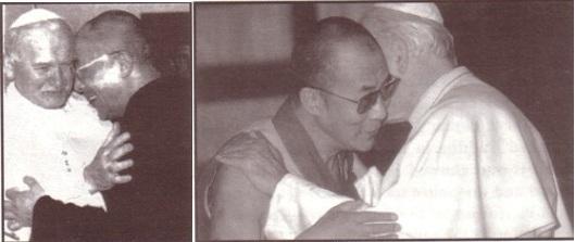 Juan Pablo II con budista Dalai Lama