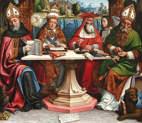 San Agustín, San Gregorio, San Jerónimo y San Ambrosio, Los Cuatro Grandes Santos Doctores de la Iglesia
