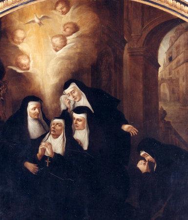 La muerte de Santa Escolástica y la paloma